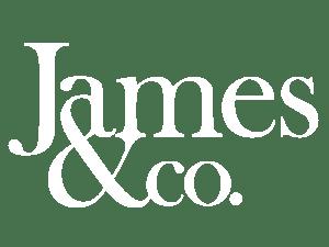 James & Co Logo White