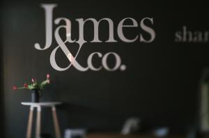 James & Co Signage